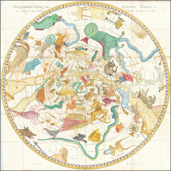 30-Celestial Maps Map By Johann Elert Bode