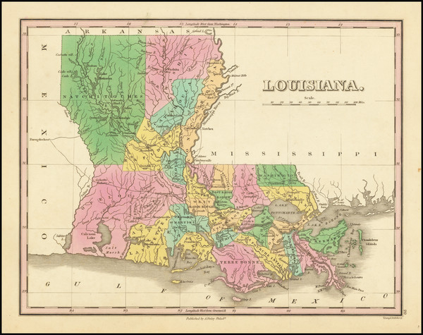 89-Louisiana Map By Anthony Finley