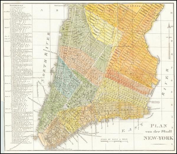 14-New York City Map By Wilhelm Hoffman