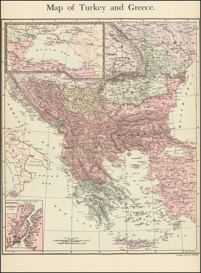 80-Greece and Turkey Map By E. Steiger