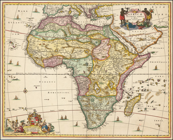 90-Africa Map By Nicolaes Visscher I