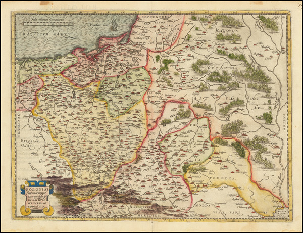 58-Poland Map By Abraham Ortelius