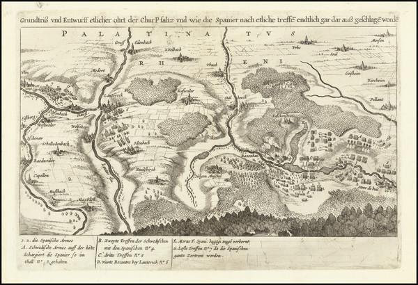 79-Germany Map By Matthaus Merian