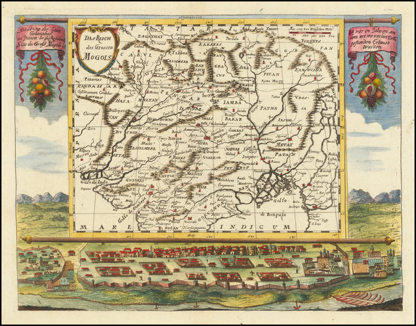 64-India and Central Asia & Caucasus Map By Johann Christoph  Wagner