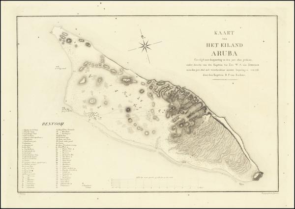 50-Caribbean Map By R.F. van Raders / W.A. von Spengler
