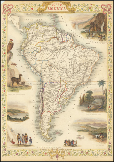 40-South America Map By John Tallis