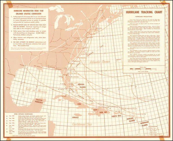 91-Atlantic Ocean, United States and Caribbean Map By Charles Stump