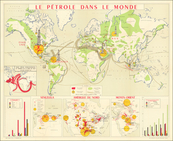 25-World Map By Union des chambres syndicales du pétrole