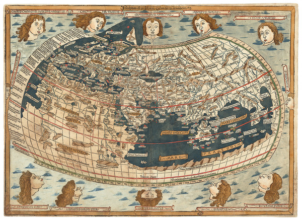 2-World Map By Claudius Ptolemy / Lienhart Holle