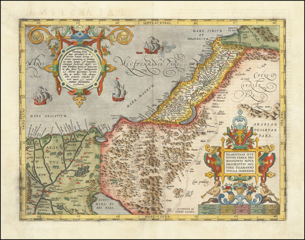 84-Holy Land Map By Abraham Ortelius