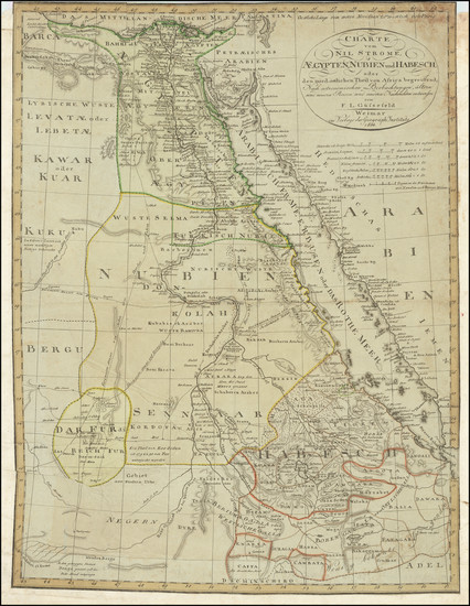 32-Egypt and North Africa Map By Franz Ludwig Gussefeld
