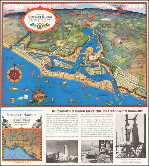 69-Pictorial Maps and Other California Cities Map By Claude Putnam
