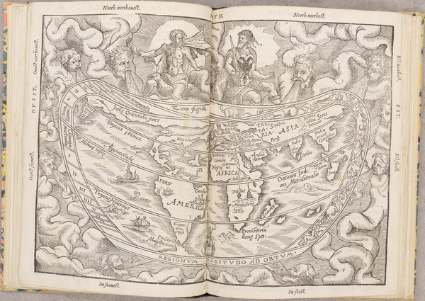 55-World, Rare Books and Celestial Maps Map By Peter Apian