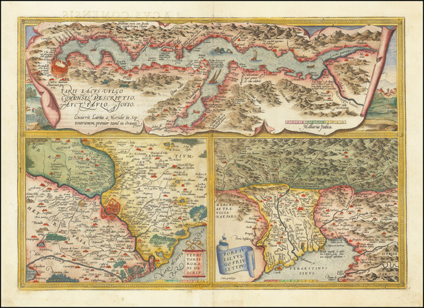 93-Northern Italy Map By Abraham Ortelius