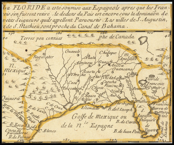 5-Florida, South and Southeast Map By Pierre Du Val
