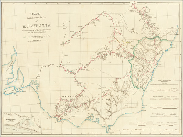 14-Australia Map By Thomas Livingstone Mitchell