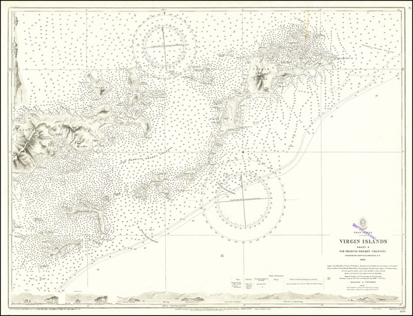 58-Virgin Islands Map By British Admiralty