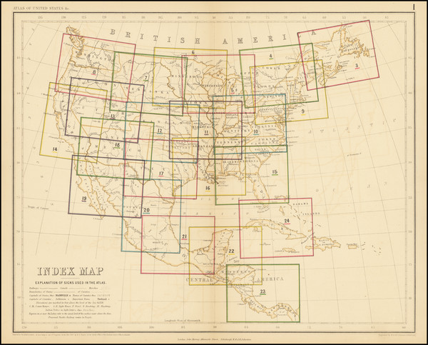 71-United States Map By Henry Darwin Rogers  &  Alexander Keith Johnston
