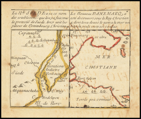 16-Delaware and Canada Map By Pierre Du Val