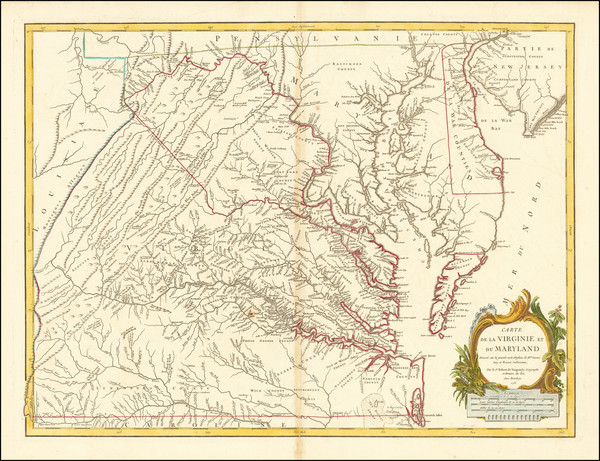77-Mid-Atlantic, Maryland and Virginia Map By Gilles Robert de Vaugondy