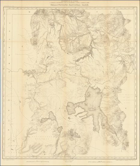 93-Wyoming Map By U.S. Geological Survey