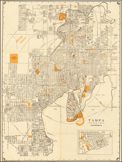 95-Florida Map By MacDonald Printing Co. - Tampa
