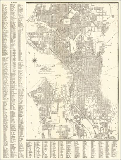 96-Washington Map By Kroll Map Company