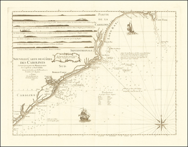 75-Southeast, North Carolina and South Carolina Map By George Louis Le Rouge