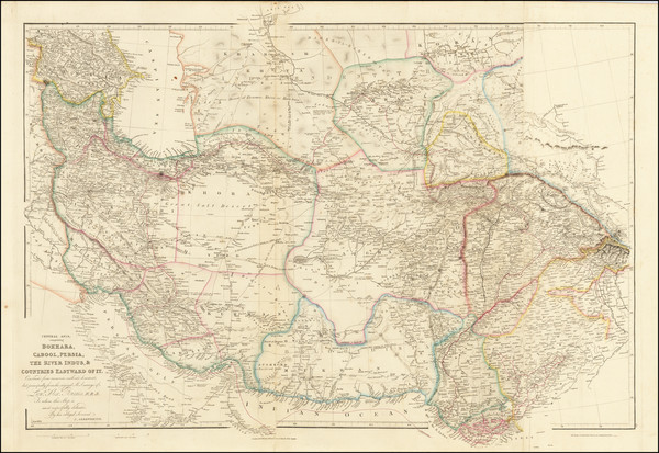 92-India, Central Asia & Caucasus, Middle East and Persia Map By John Arrowsmith