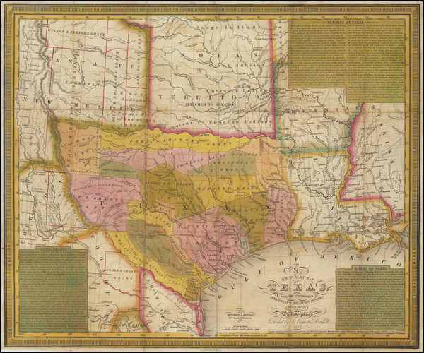 10-Texas Map By Samuel Augustus Mitchell / J.H. Young