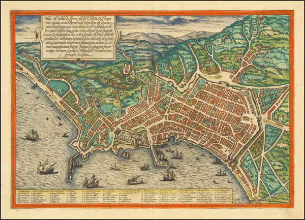 5-Other Italian Cities Map By Georg Braun  &  Frans Hogenberg