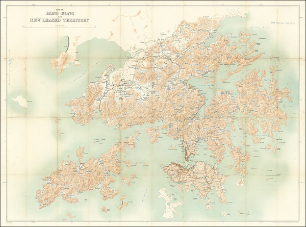 24-Hong Kong Map By Geographical Section, War Office (UK) / Royal School of Military Engineering