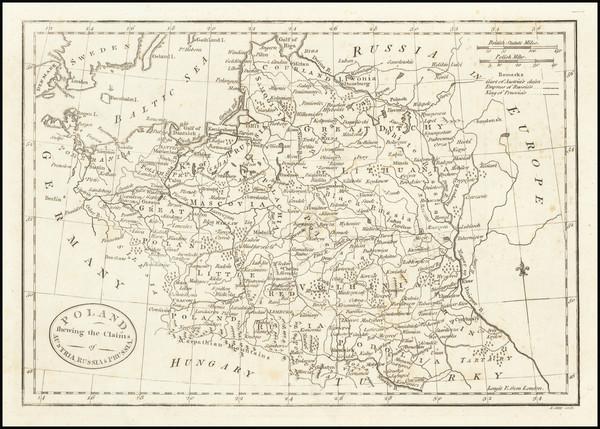 67-Poland Map By John Cary