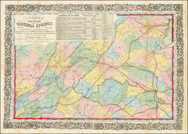 2-Virginia Map By Ritchie & Dunnavant / Willliam D. Cooke