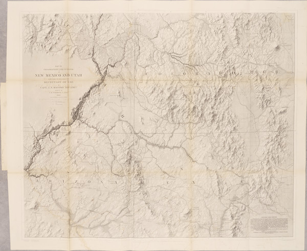 57-Arizona, Colorado, Utah, New Mexico, Colorado, Utah and Rare Books Map By John N. Macomb
