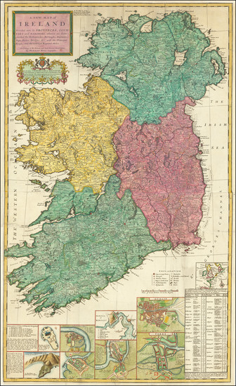 20-Ireland Map By Herman Moll