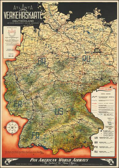 76-Europe, Poland, Czech Republic & Slovakia, Baltic Countries, World War II and Germany Map B