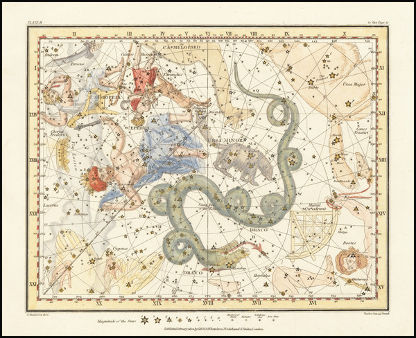 90-Celestial Maps Map By Alexander Jamieson