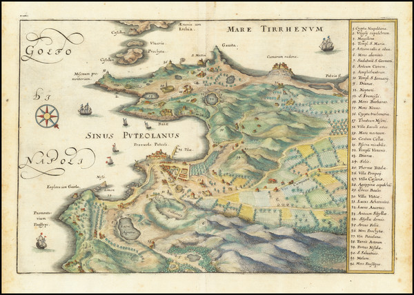 59-Southern Italy and Other Italian Cities Map By Matthaeus Merian