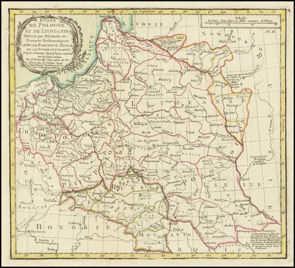 41-Poland Map By Louis Brion de la Tour