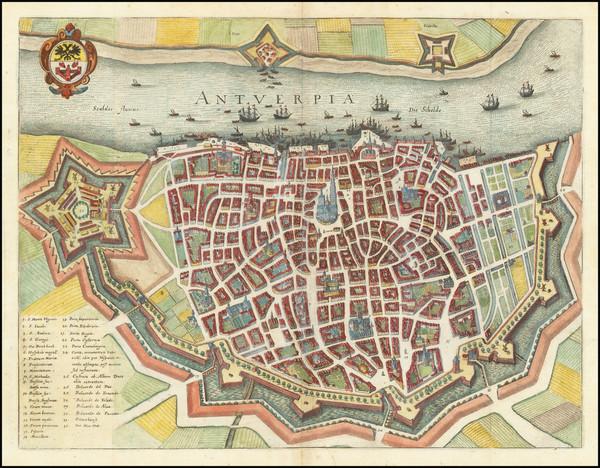 66-Belgium Map By Matthaus Merian
