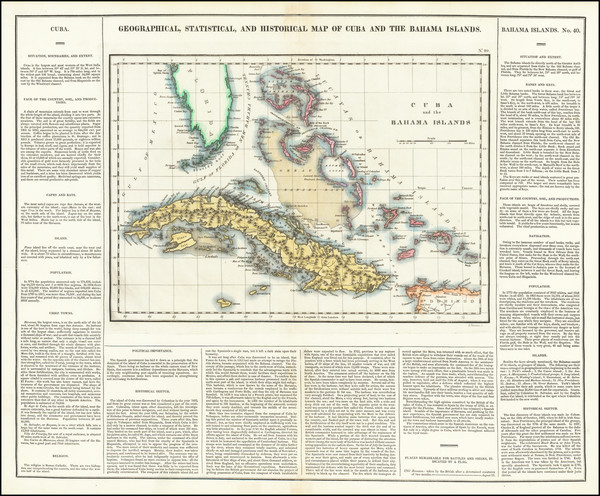 38-Cuba and Bahamas Map By Henry Charles Carey  &  Isaac Lea