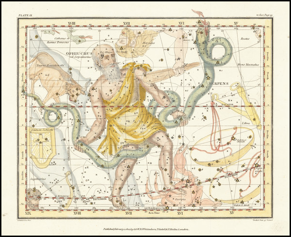 27-Celestial Maps Map By Alexander Jamieson