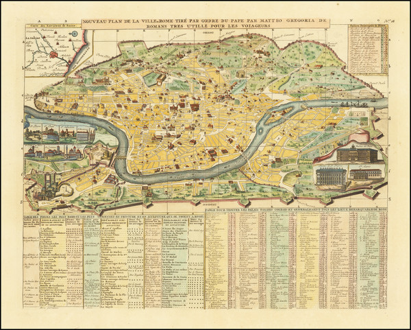 86-Rome Map By Henri Chatelain