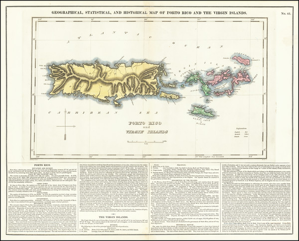 8-Puerto Rico and Virgin Islands Map By Henry Charles Carey  &  Isaac Lea