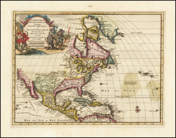 39-North America Map By Pieter van der Aa