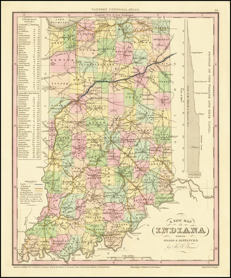 38-Indiana Map By Henry Schenk Tanner