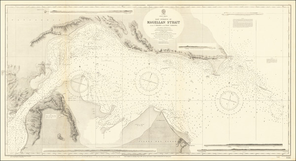 38-Argentina and Chile Map By British Admiralty