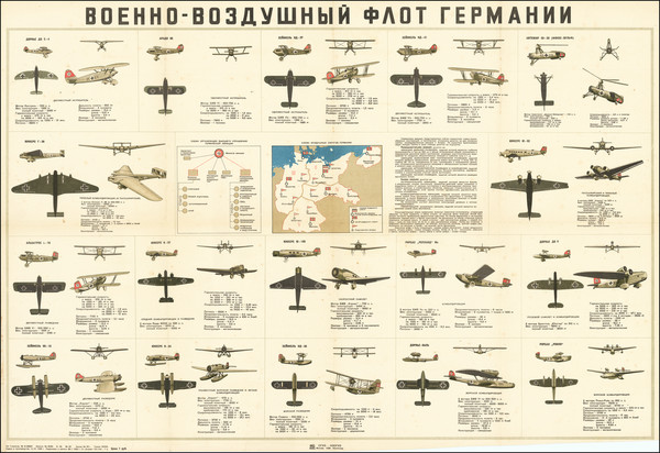 64-Germany, Russia and World War II Map By F.P. Konov