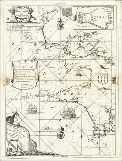 10-France Map By Vincenzo Maria Coronelli